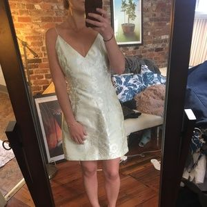 Free People, green / silver cocktail dress